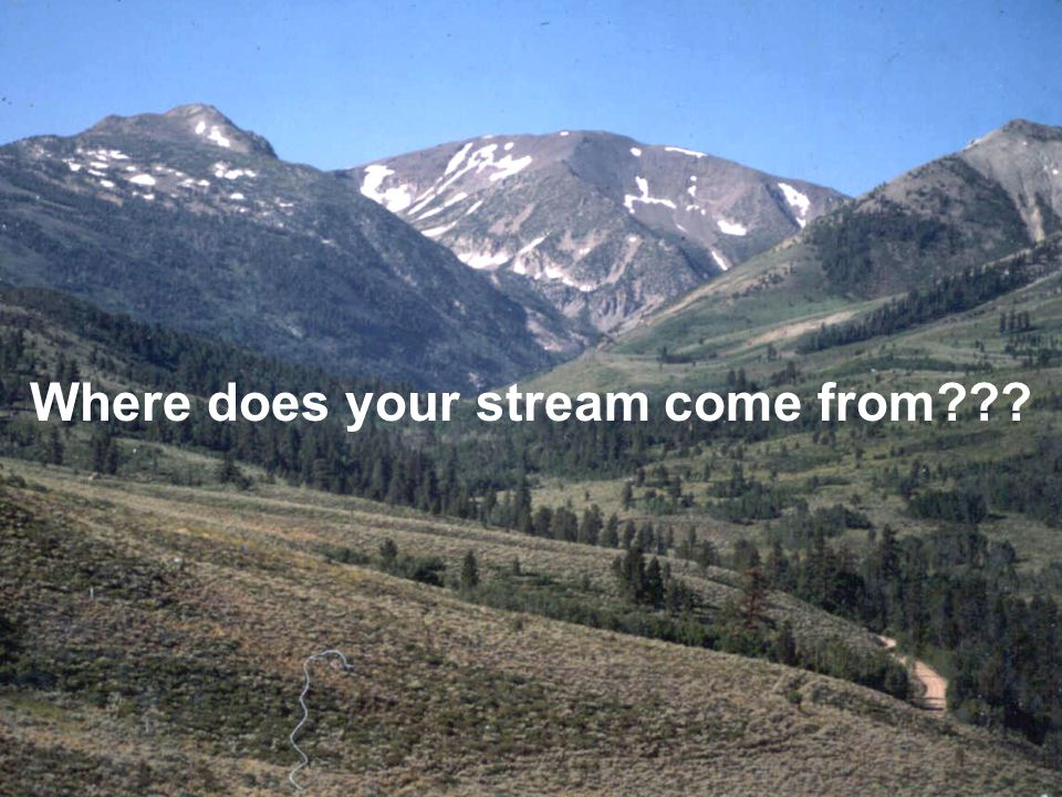  In your watershed, when are stream flows highest.