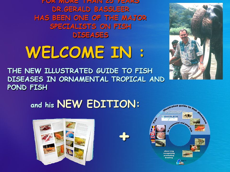 THE NEW ILLUSTRATED GUIDE TO FISH DISEASES IN ORNAMENTAL TROPICAL AND POND FISH FOR MORE THAN 25 YEARS DR.GERALD BASSLEER HAS BEEN ONE OF THE MAJOR SP