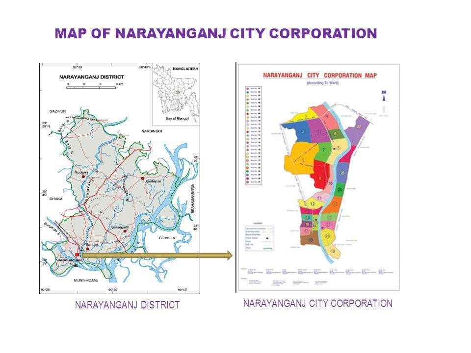 MAP OF NARAYANGANJ CITY CORPORATION NARAYANGANJ CITY CORPORATION NARAYANGANJ DISTRICT