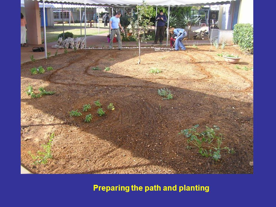 Preparing the path and planting