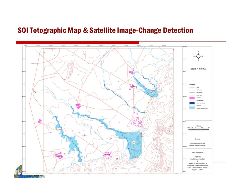 SOI Totographic Map & Satellite Image-Change Detection