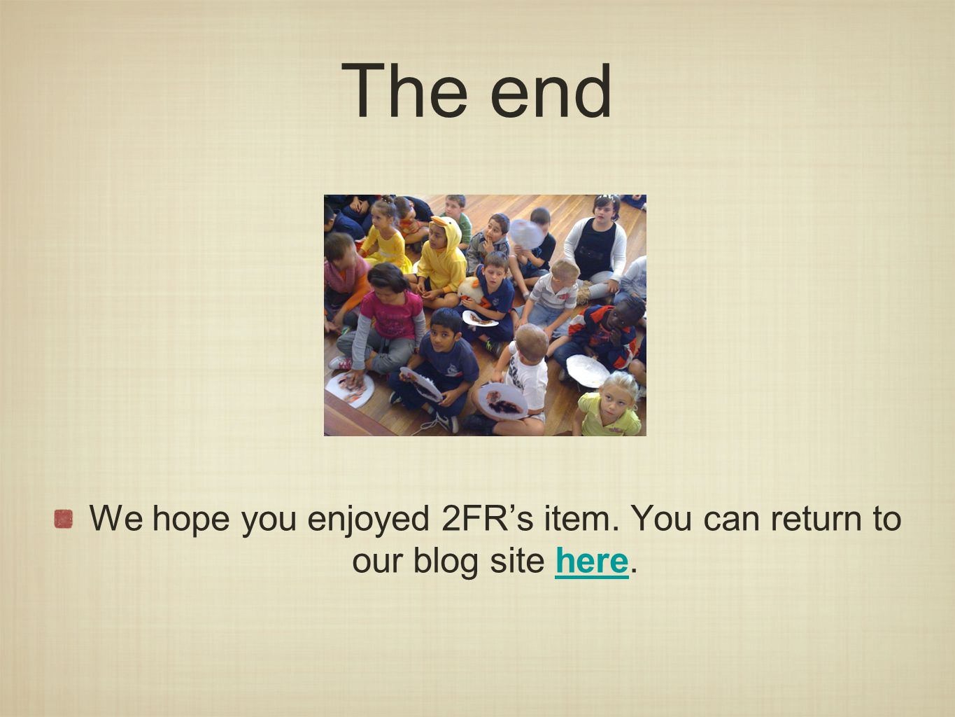 The end We hope you enjoyed 2FR's item. You can return to our blog site here.here