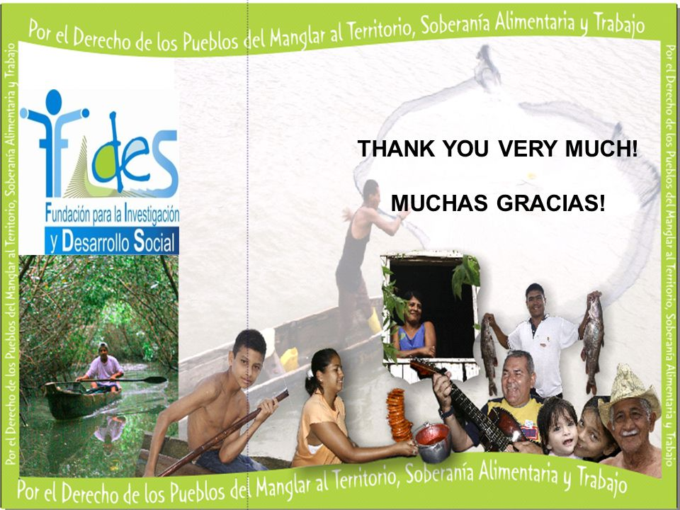 THANK YOU VERY MUCH! MUCHAS GRACIAS!