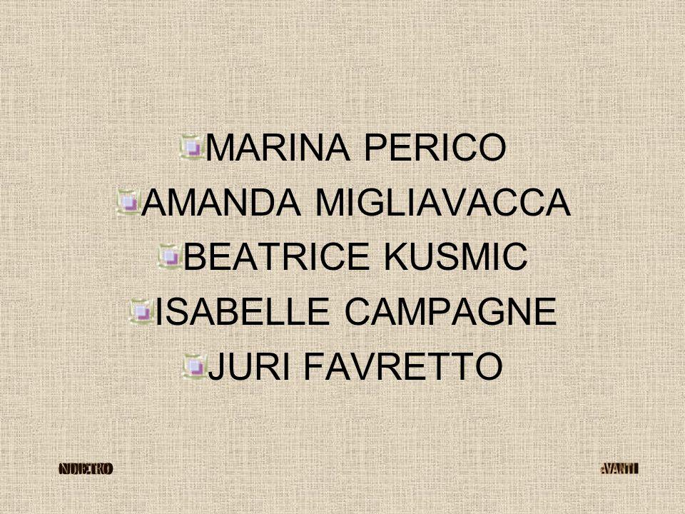 MARINA PERICO AMANDA MIGLIAVACCA BEATRICE KUSMIC ISABELLE CAMPAGNE JURI FAVRETTO