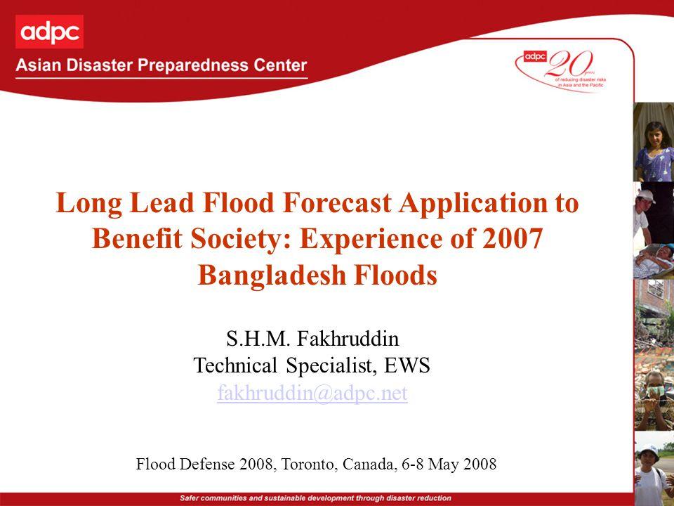 Community responses to flood forecasts