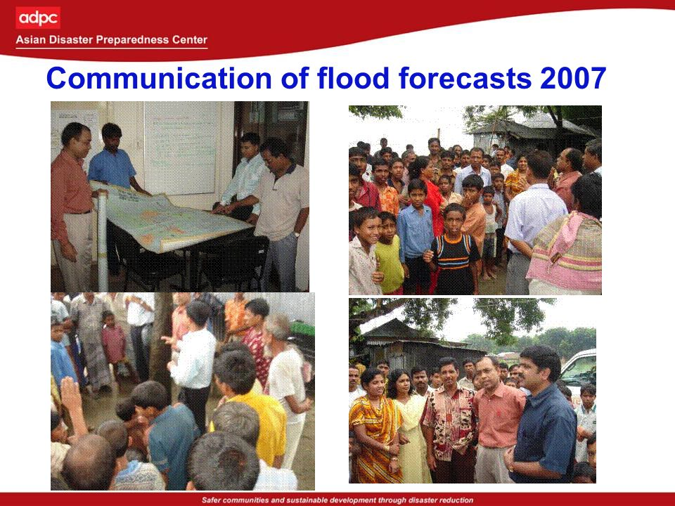 Communication of flood forecasts 2007