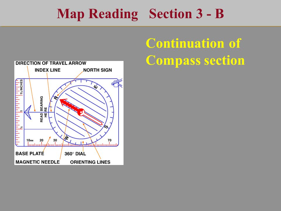 Map Reading Section 3 - B Continuation of Compass section