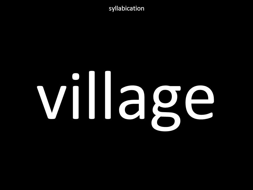 village syllabication