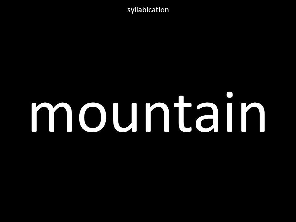 mountain syllabication