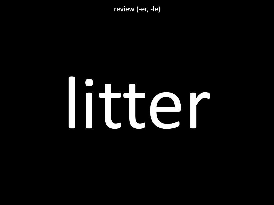 litter review (-er, -le)