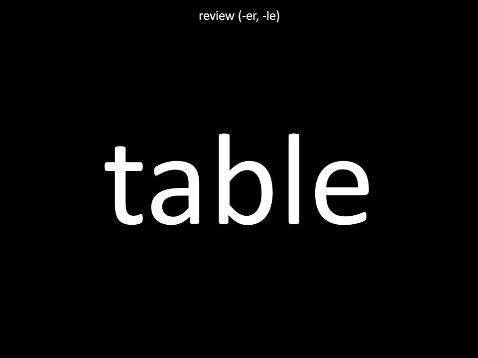 table review (-er, -le)