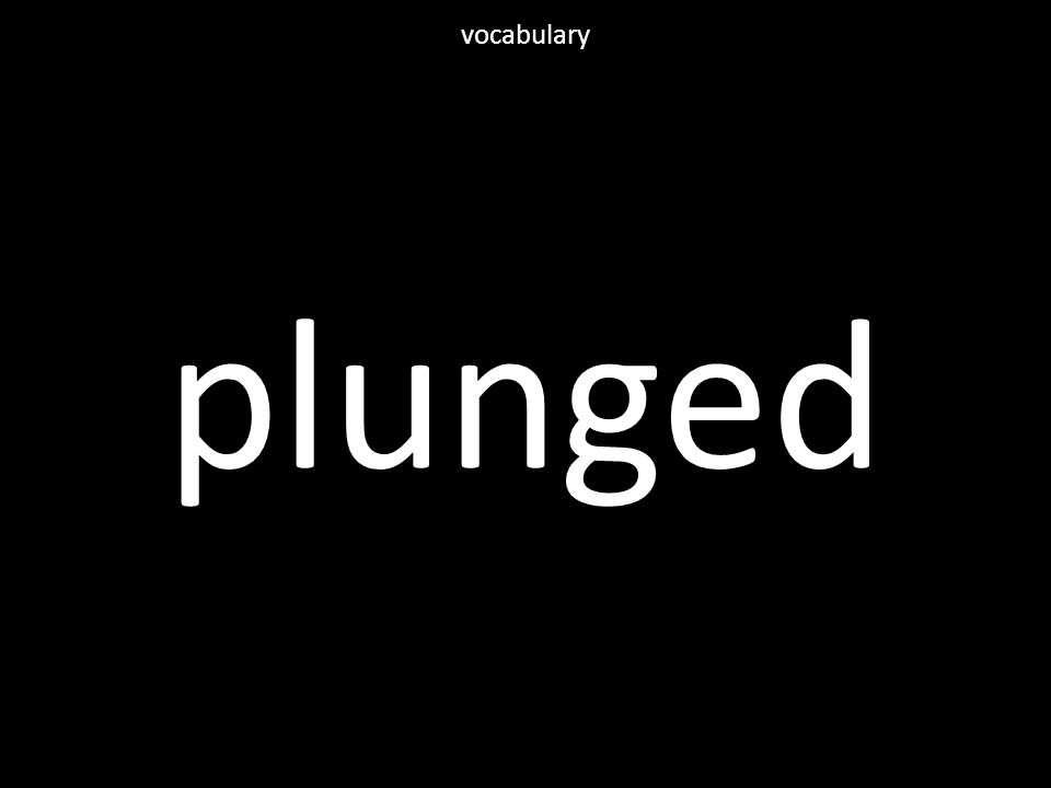 plunged vocabulary
