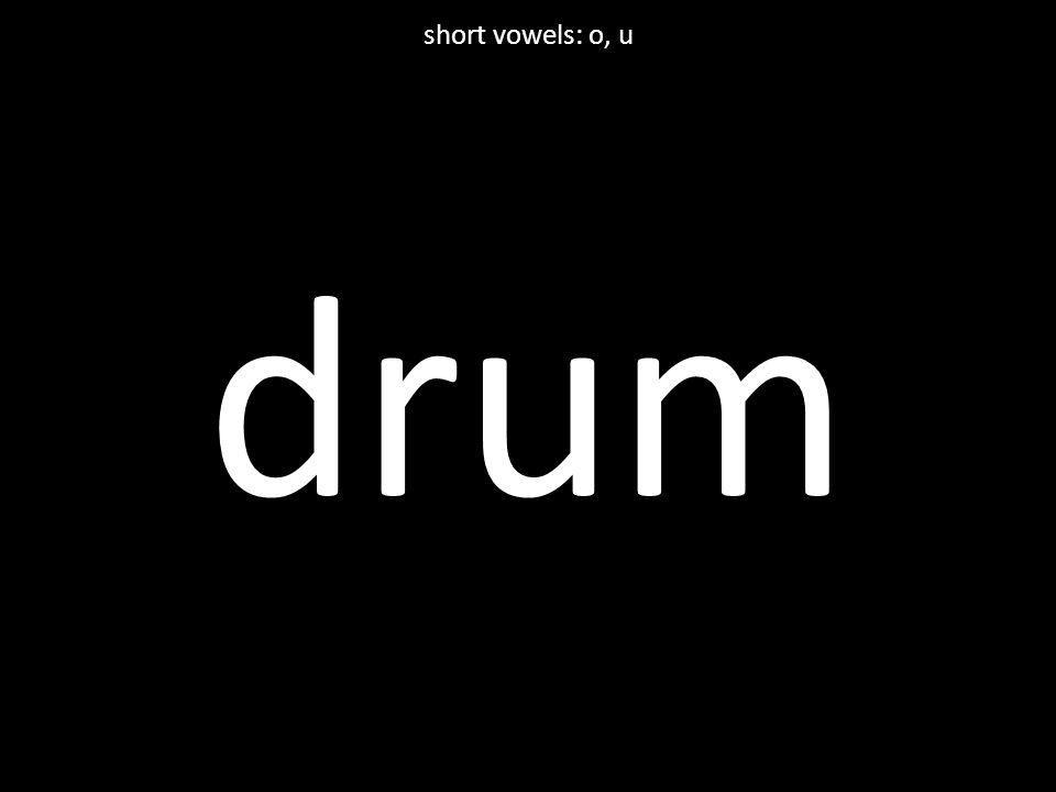 drum short vowels: o, u
