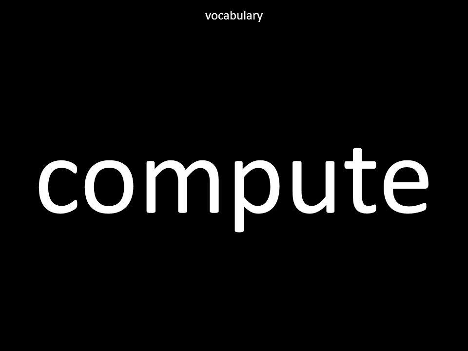 compute vocabulary