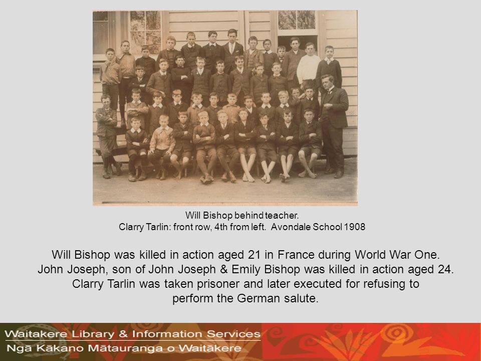 Will Bishop was killed in action aged 21 in France during World War One.