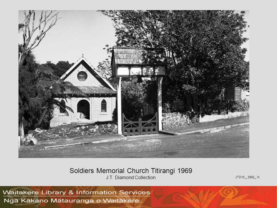 Soldiers Memorial Church Titirangi 1969 J.T. Diamond Collection JTD10 _ 3992_ N