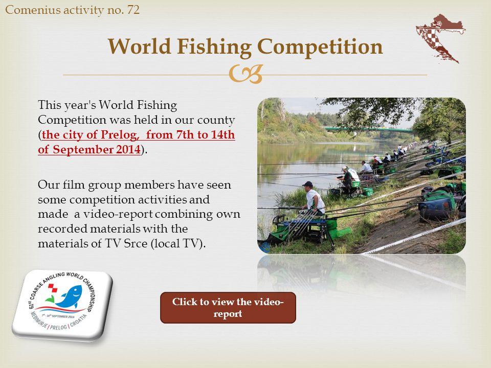  World Fishing Competition Comenius activity no.