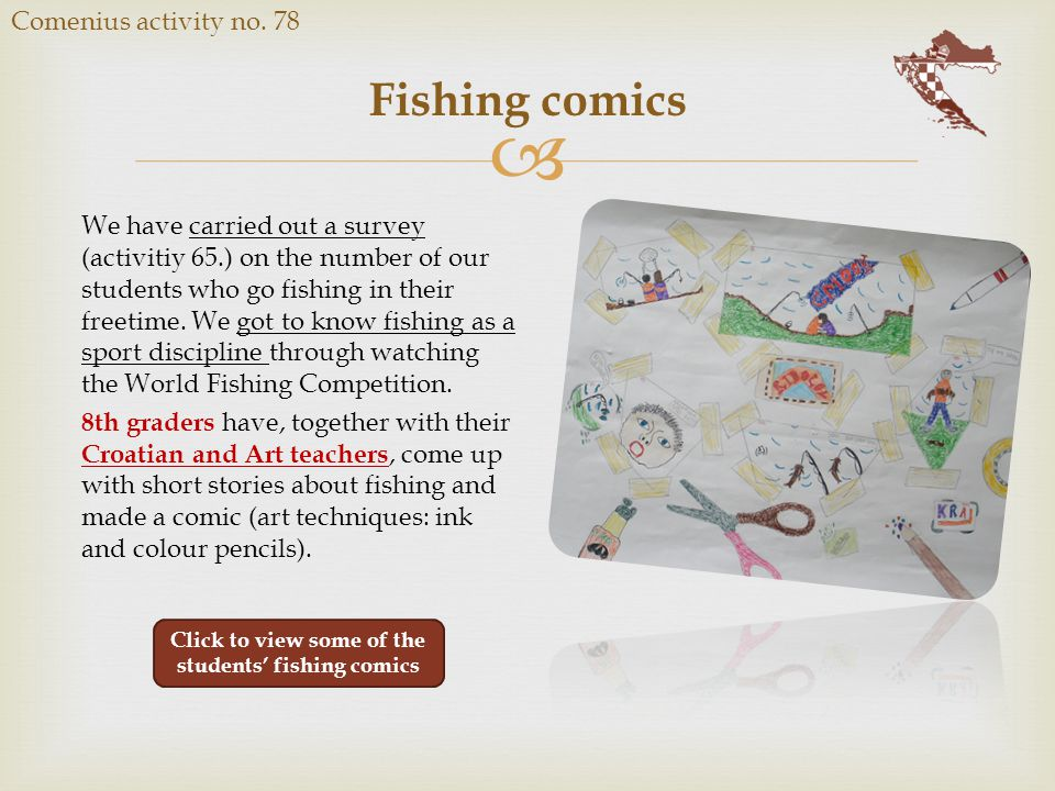  Fishing comics Comenius activity no.