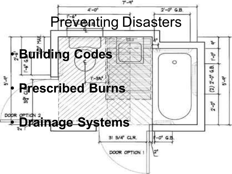 Preventing Disasters Building Codes Prescribed Burns Drainage Systems
