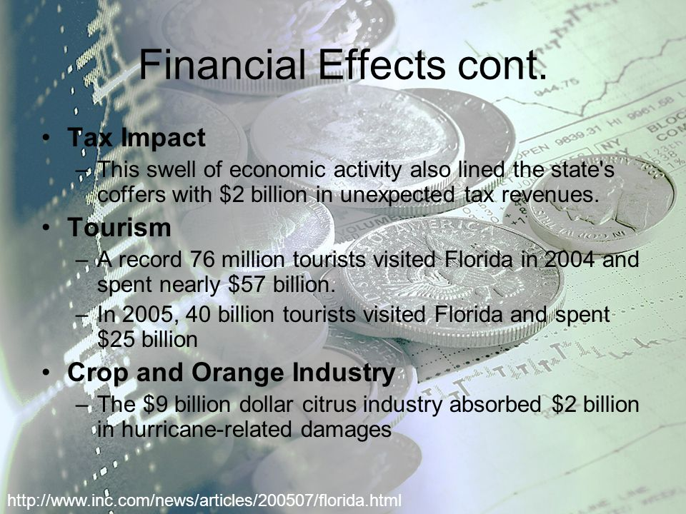 Financial Effects cont.