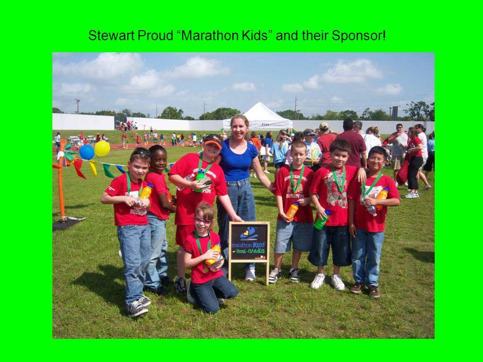Stewart Proud Marathon Kids and their Sponsor!