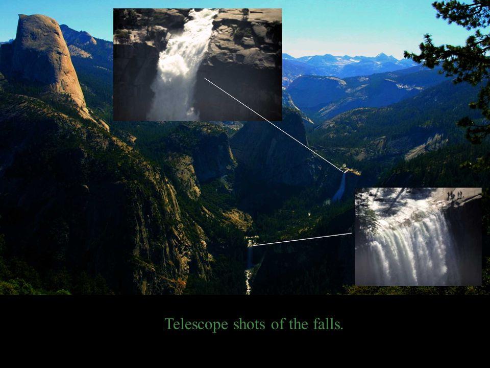 Telescope shots of the falls.