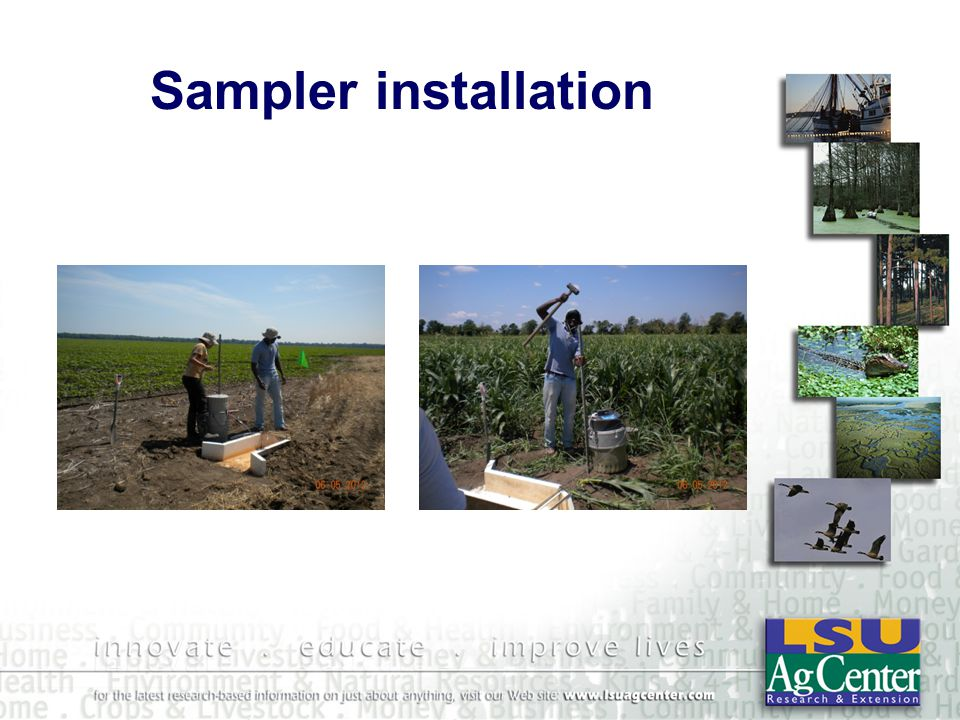 Sampler installation