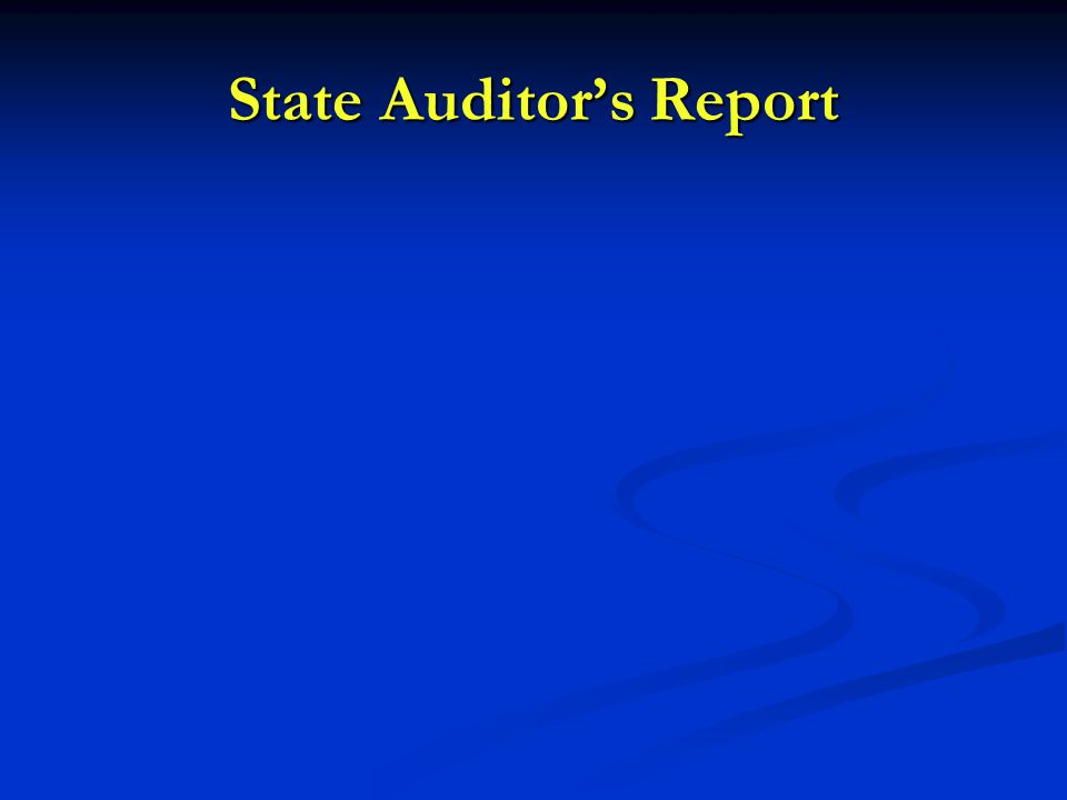 State Auditor's Report