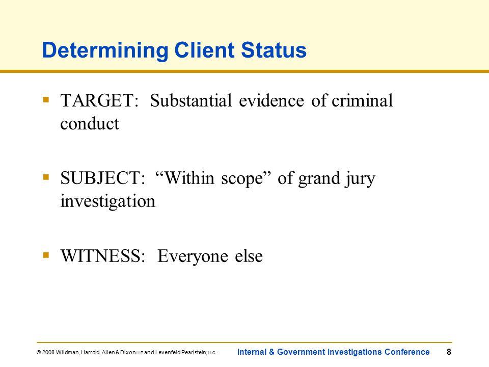 © 2008 Wildman, Harrold, Allen & Dixon LLP and Levenfeld Pearlstein, LLC.