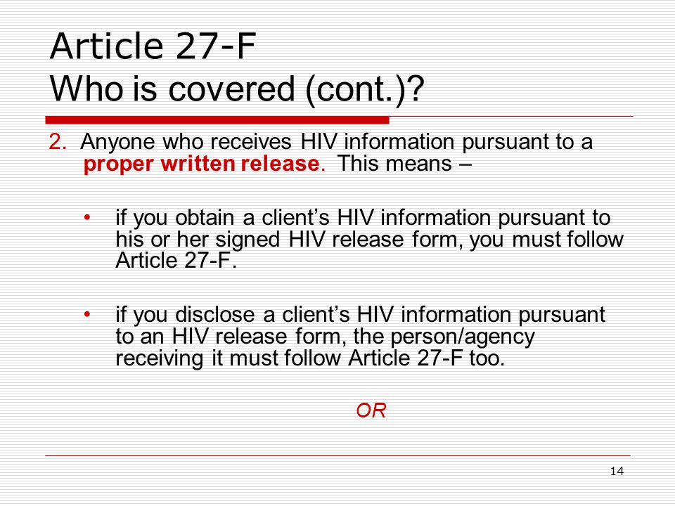 13 Article 27-F Who is covered.