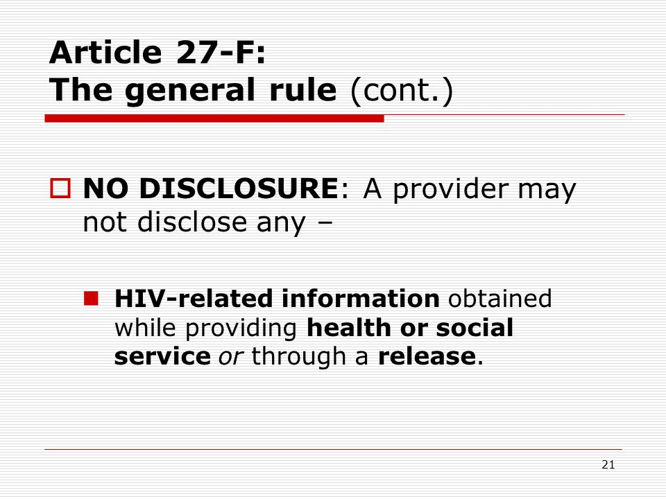 20 General Confidentiality Rule  HIPAA & Art.