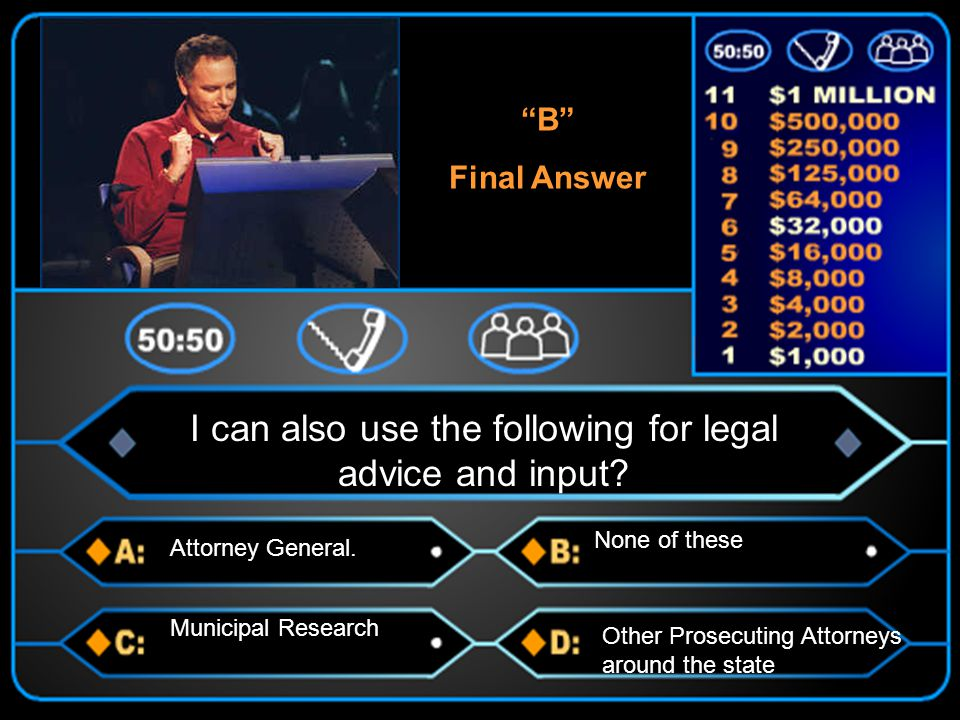 B Final Answer Municipal Research I can also use the following for legal advice and input.