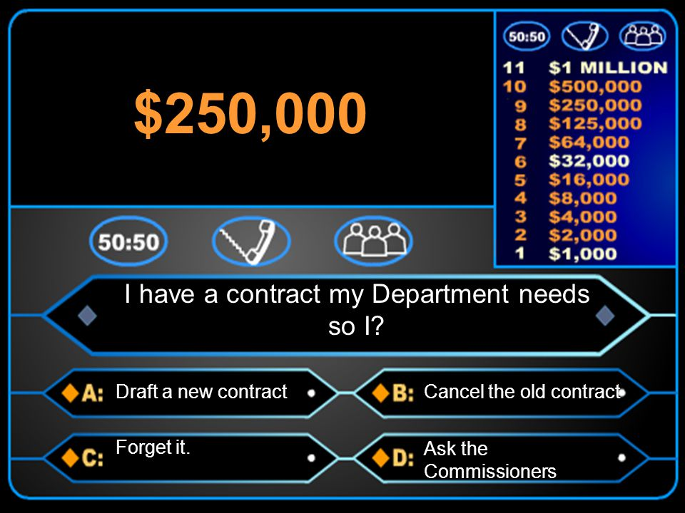 Draft a new contractCancel the old contract Forget it.