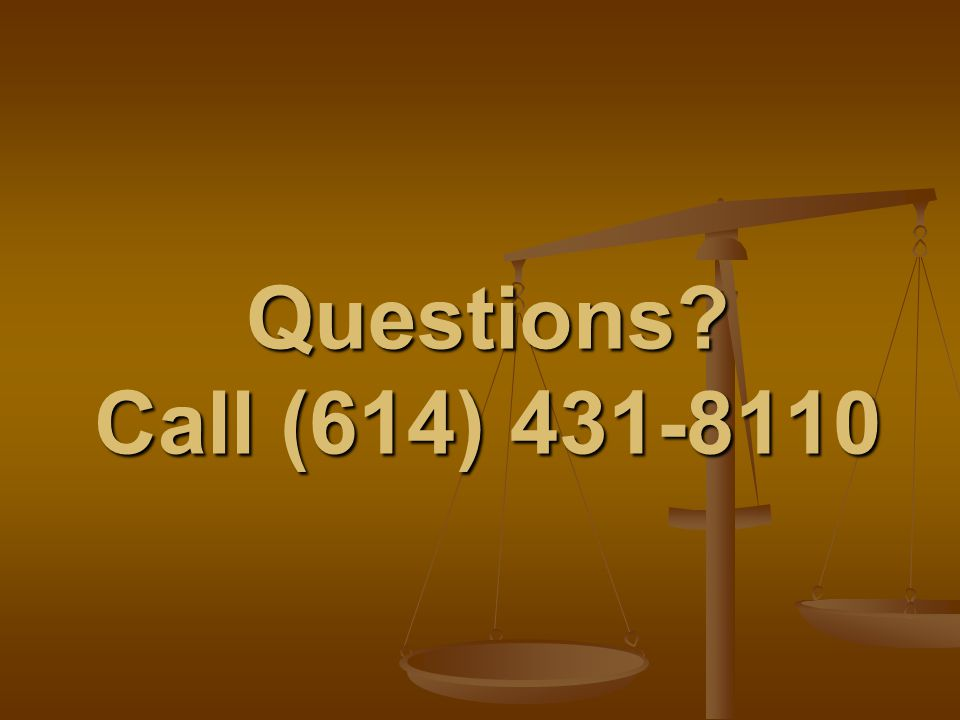 Questions? Call (614) 431-8110