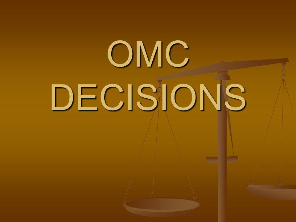 OMC DECISIONS