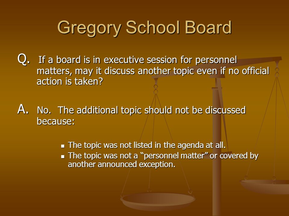 Gregory School Board Q.