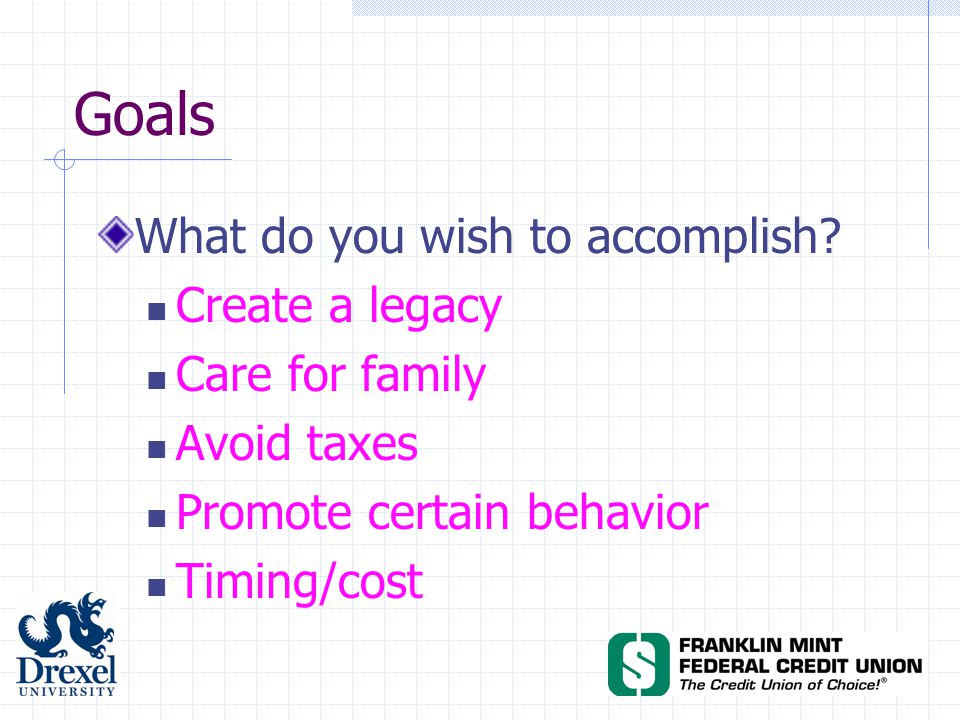 What do you wish to accomplish.