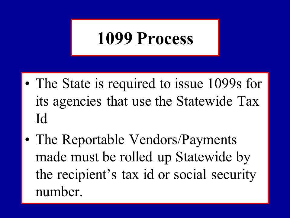 $$$$$$$$$$$$$ The IRS regulations require us to report the aforementioned payments if the consolidated amount by Tax Id is $600 or greater We do not mail or report 1099s under this limit