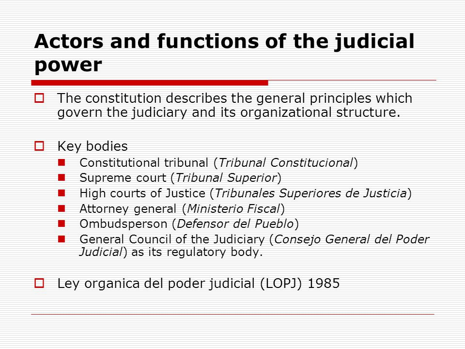 The constitutional tribunal  Supreme interpreter of constitutionality in Spain.