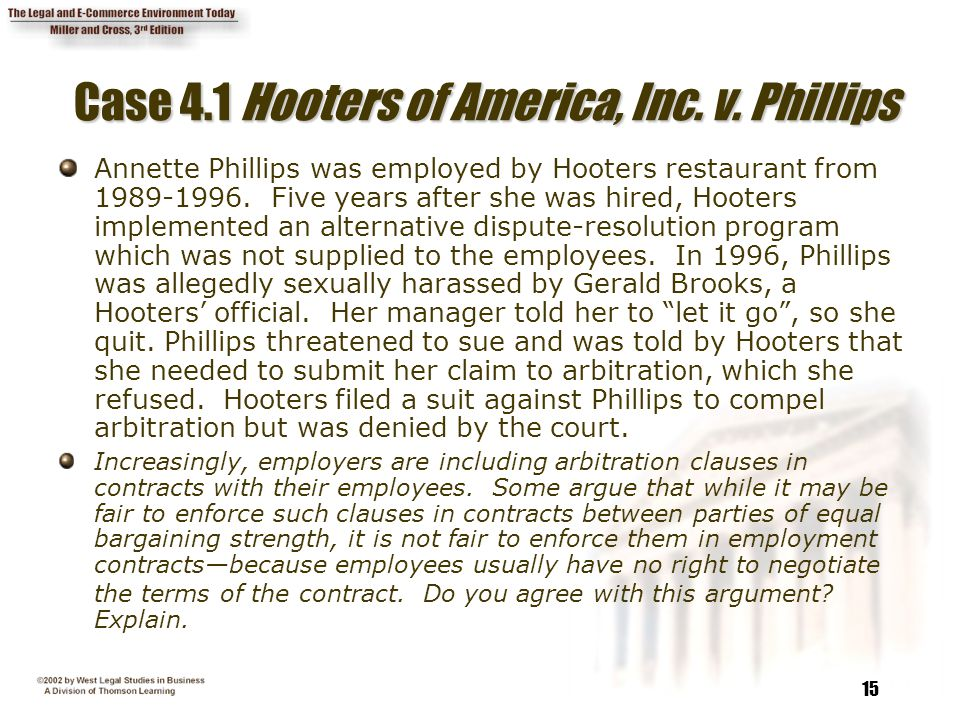 15 Case 4.1 Hooters of America, Inc. v.