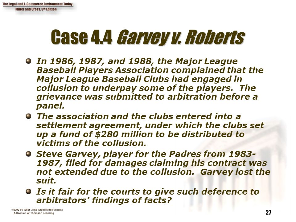 27 Case 4.4 Garvey v.