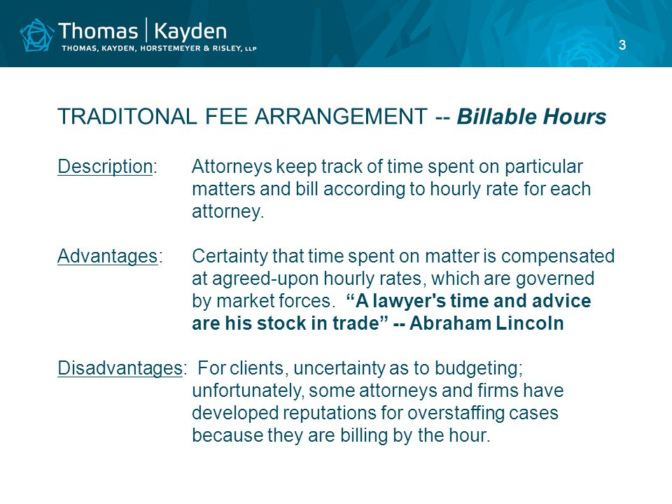 4 ALTERNATIVE FEE ARRANGEMENT -- Fixed or Flat Fees Description:Client engages attorney to perform specific service for a fixed amount agreed to in advance.