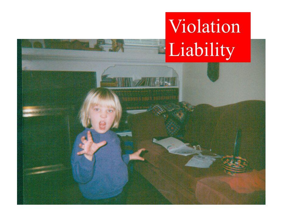 Violation Liability