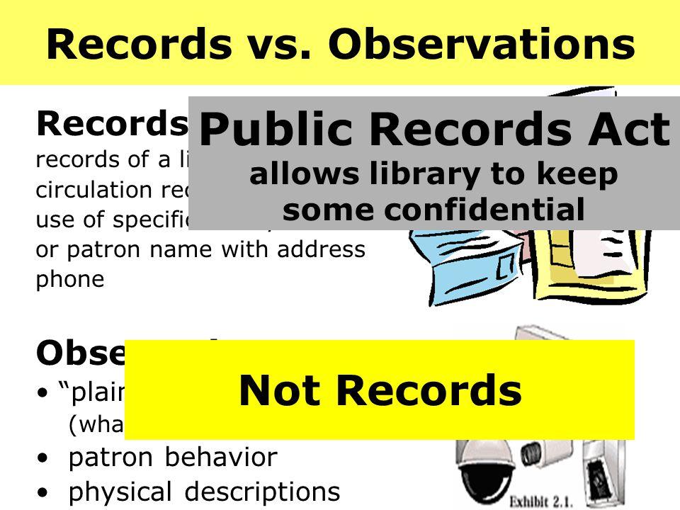 Records vs.