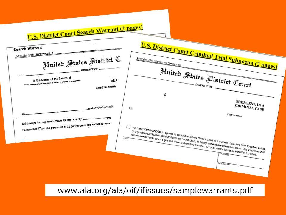 www.ala.org/ala/oif/ifissues/samplewarrants.pdf