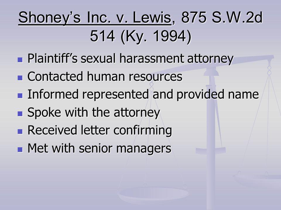 Shoney's Inc. v. Lewis, 875 S.W.2d 514 (Ky.