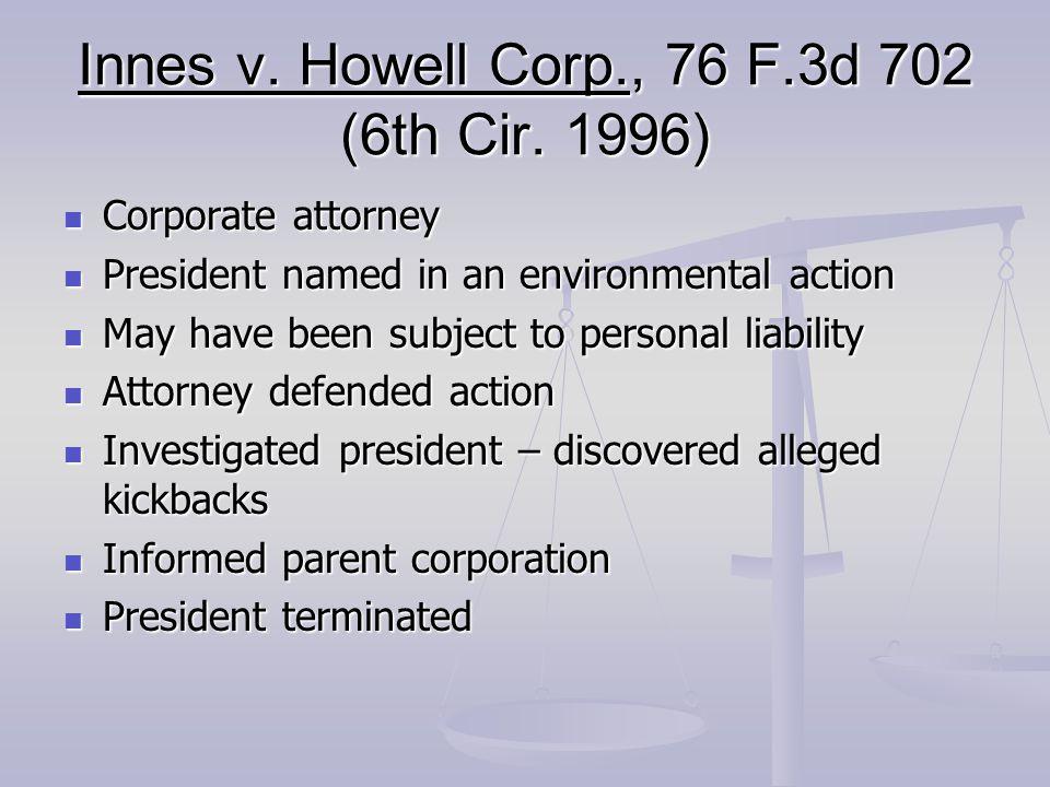 Innes v. Howell Corp., 76 F.3d 702 (6th Cir.