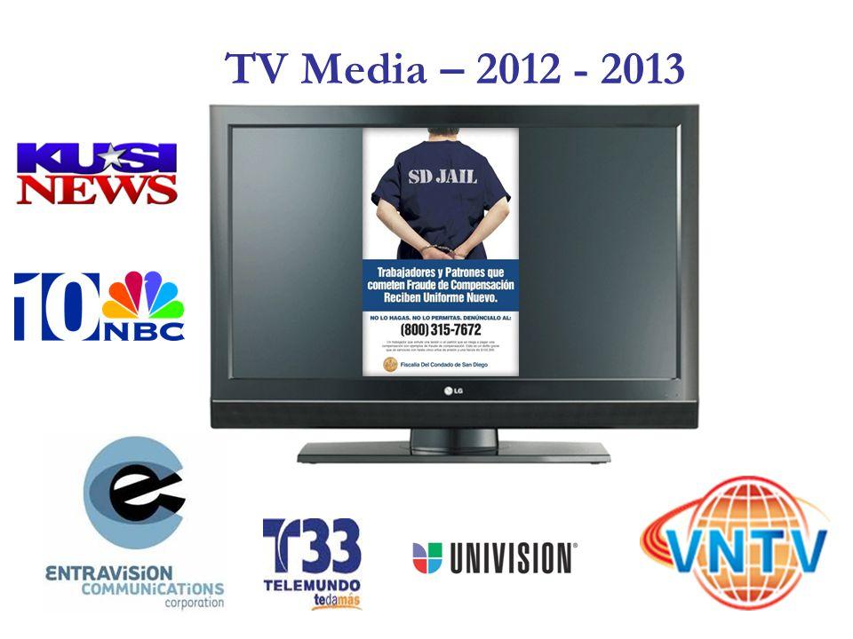 TV Media – 2012 - 2013