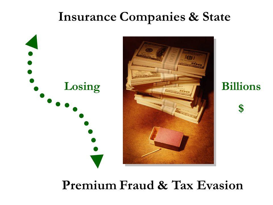 Insurance Companies & State Premium Fraud & Tax Evasion Billions $ Losing