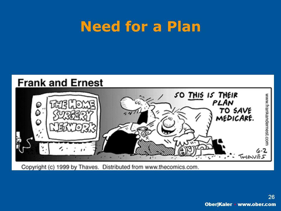 Ober|Kaler www.ober.com 26 Need for a Plan
